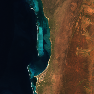 satallite image of Western Australian coast